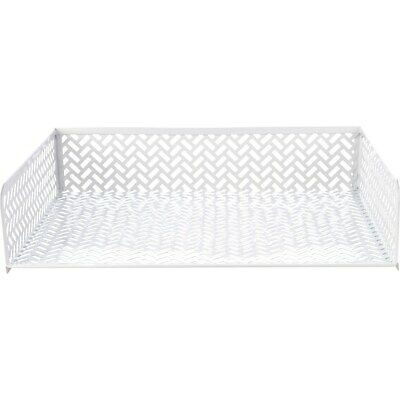 Staples White Zigzag Letter Tray 26846 1116756