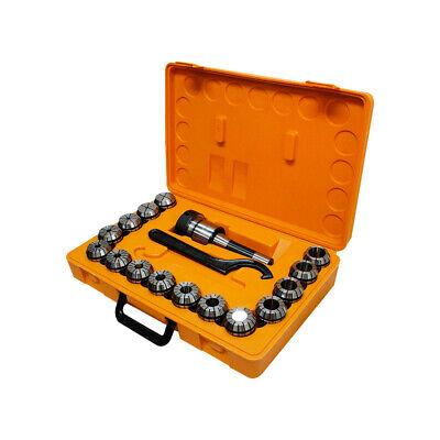 Er40 Collet Chuck R8 Shank W 15pc 18- 1 Collets Set Holder Cnc Milling Lathe