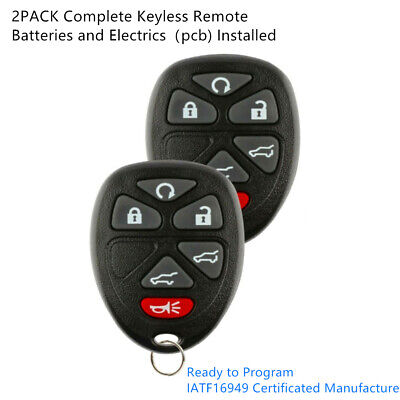 2 Keyless Entry Remote Control Car Key Fob for 2007-2014 TAHOE CHEVY OUC60270 Chevy Key Fob