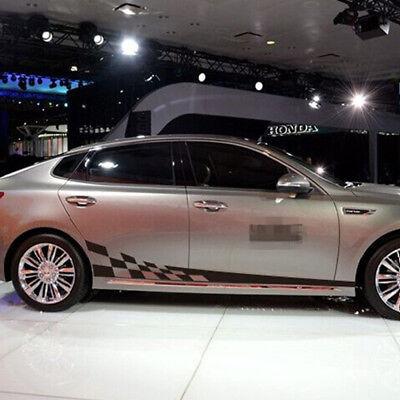 2pcs Universal Waterproof Fashion Lattice Style Car SUV Body Side Decals covid 19 (Fashions Correct Shadow coronavirus)