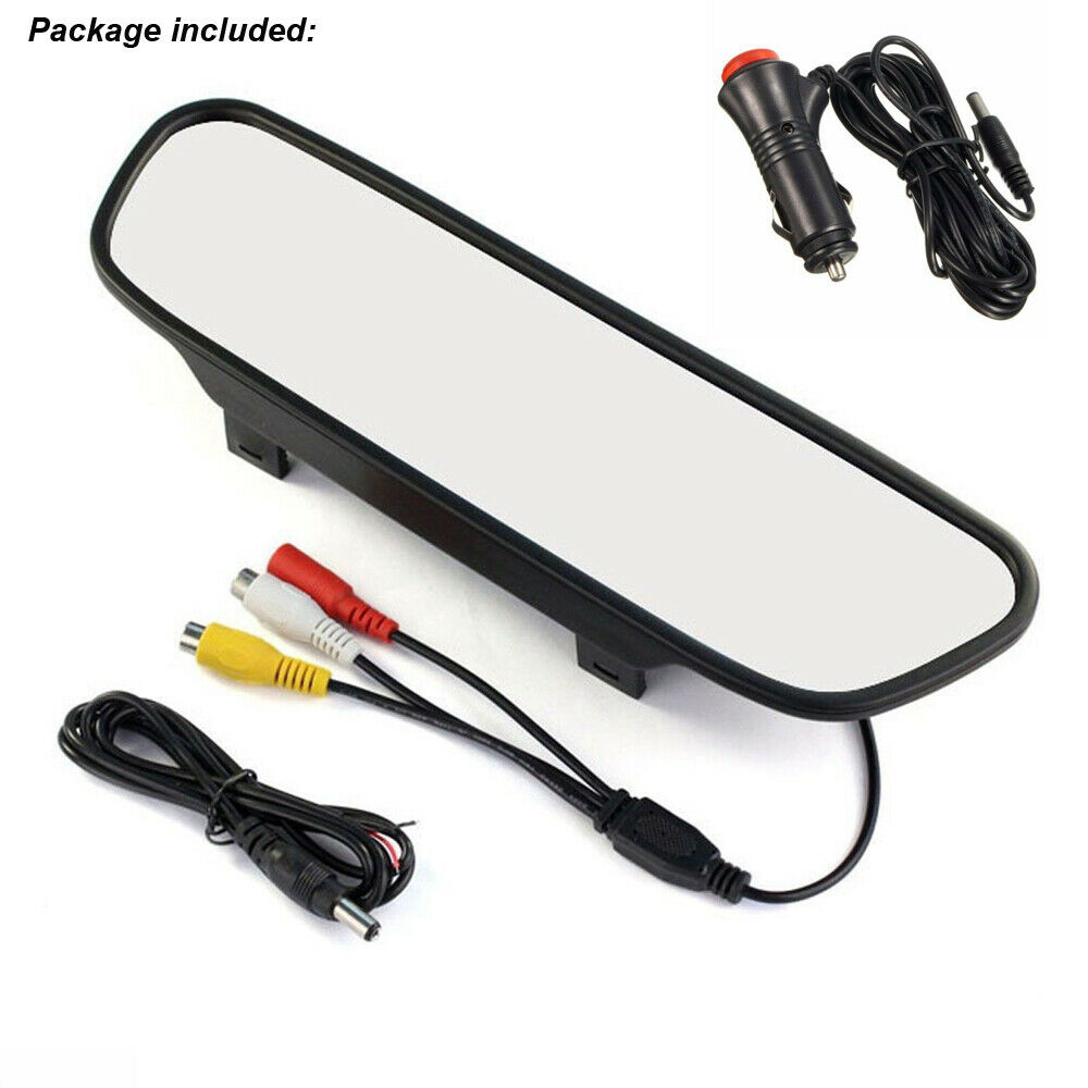 5 TFT LCD Mirror Screen Monitor For Car Rear View Reverse Backup Camera Kit