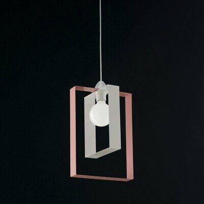 Lámpara de Araña Colgante Moderno Design de Metal Blanco Rosado