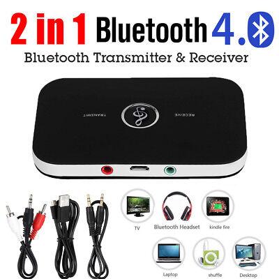 2-In-1 Bluetooth A2DP Sender Empfänger 3.5mm RCA Audio Transmitter Adapter