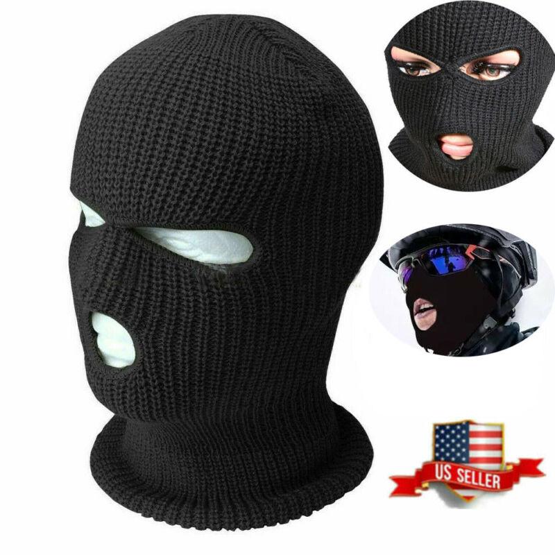 Full Face Winter 3 Hole Ski Mask Cap Balaclava Beanie Warm Tactical Hat Skully