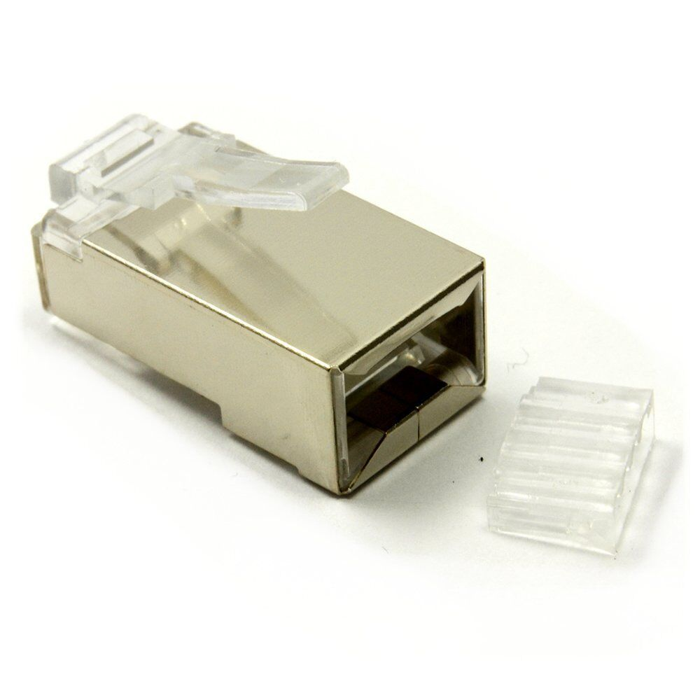 Rj45 Shielded Crimp Connector Modular Plug Head 8p8c Cat6 Cat6a Stp Cat 6 1 Of 9free Shipping Lan Network