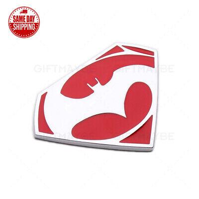Hex 3D Red Batman Car Logo Emblem Badge Universal Fits Sport 80th Anniversary