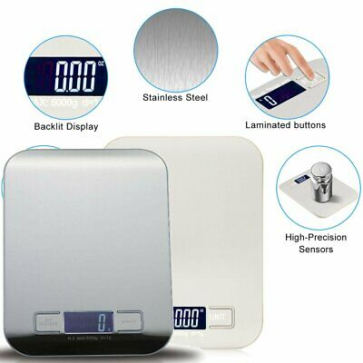Lcd Digital Kitchen Postal Scale Electronic Weight Food Balance Stainless Steel