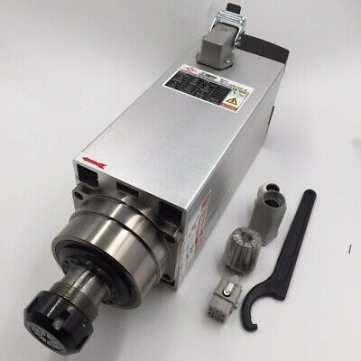 6kw Air-cooled Ac Spindle Motor Er32 220v 18000rpm Woodworking Cnc Router