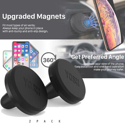 2x YOSH Car Mobile Phone Holder Air Vent Mount Fr iPhone11Pro Samsung S10 Huawei