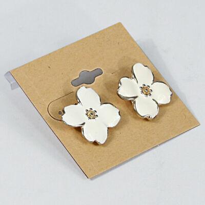 Plain Khaki Kraft Hanging Earring Card Jewelry Display Flocked Card 2 X 2 100