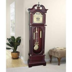Grandfather Clock Floor Standing Wood Antique 72 Vintage Chime Modern Pendulum