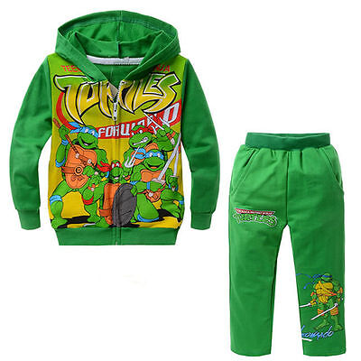 Kinder Jungen Teenage Mutant Ninja Turtles Pullover SweatShirt Hoodie Jacke (Teenage Mutant Ninja Turtles Kapuzenpullover)