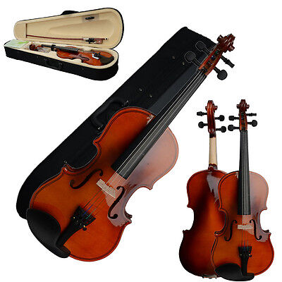 New 1/4 Solid Wood Natural Color Acoustic Violin for Beginner