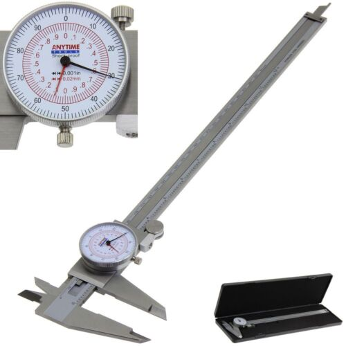 """Dial Caliper 12"""" / 300mm Dual Reading Scale Metric SAE Standard INCH MM Anytime"""