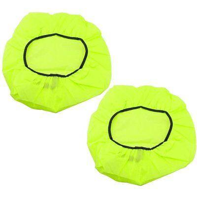 2x Regenschutzhülle für Rucksäcke und Schulranzen, wasserdicht Neon-Gelb