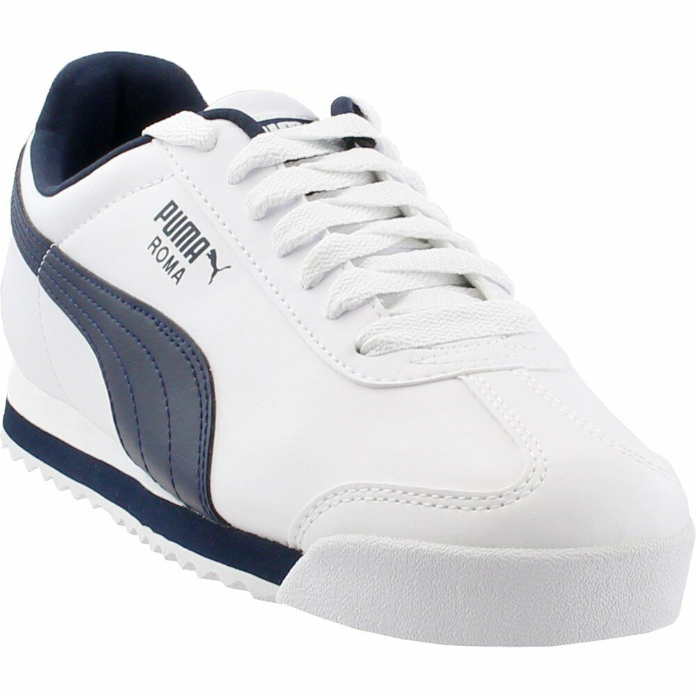 Puma Roma Basic  Athletic Running  Shoes - White - Mens