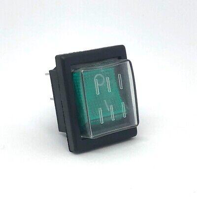 Green Light Dpst On-off 4pin Waterproof Rocker Boat Switch Ac250v15a 125v20a
