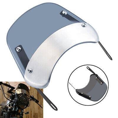 5-7'' Round Headlight Windshield Universal Motorcycle Fairing Windscreen Smoke