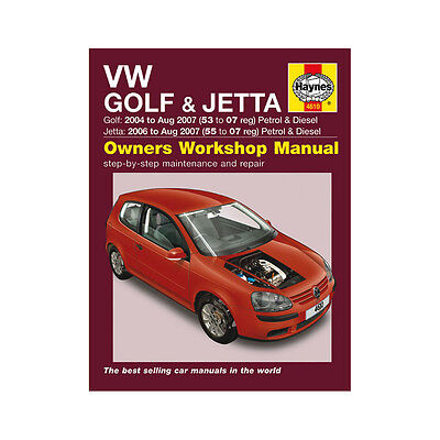 VW Golf Jetta 1.4 1.6 2.0 Petrol 1.9 2.0 Dsl 04-07 (53 to 07 Reg) Haynes Manual