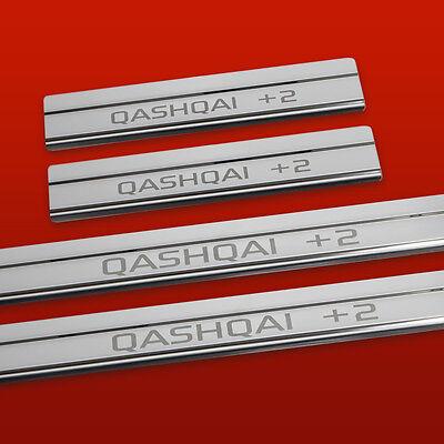 410544 Nissan Qashqai Mk1 +2 (Qashqai +2) Mirror 4 Door Sills Plates