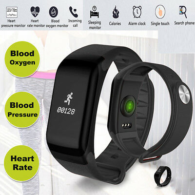 Smart Watch Bracelet Heart Rate Blood Pressure Fitness Monitor Pedometer Health