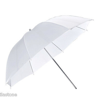 "43"" / 109cm Photograph Soft White Umbrella Studio Flash Translucent Diffuser US"