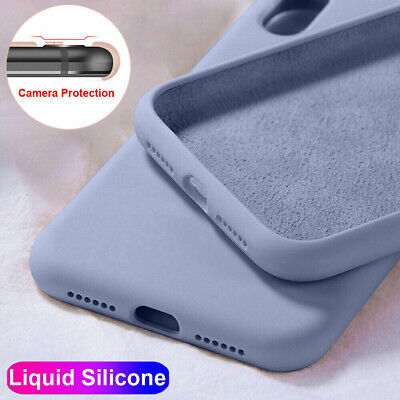 Case For iPhone 11 Pro Max X XR 7 8 6 Plus Soft Liquid Silicone Shockproof Cover