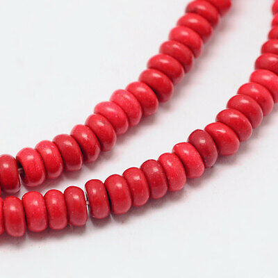158 Abacus Beads Howlite 4mm x 2mm Full Strand Rondelle Beads - BD1011 for sale  Shipping to India