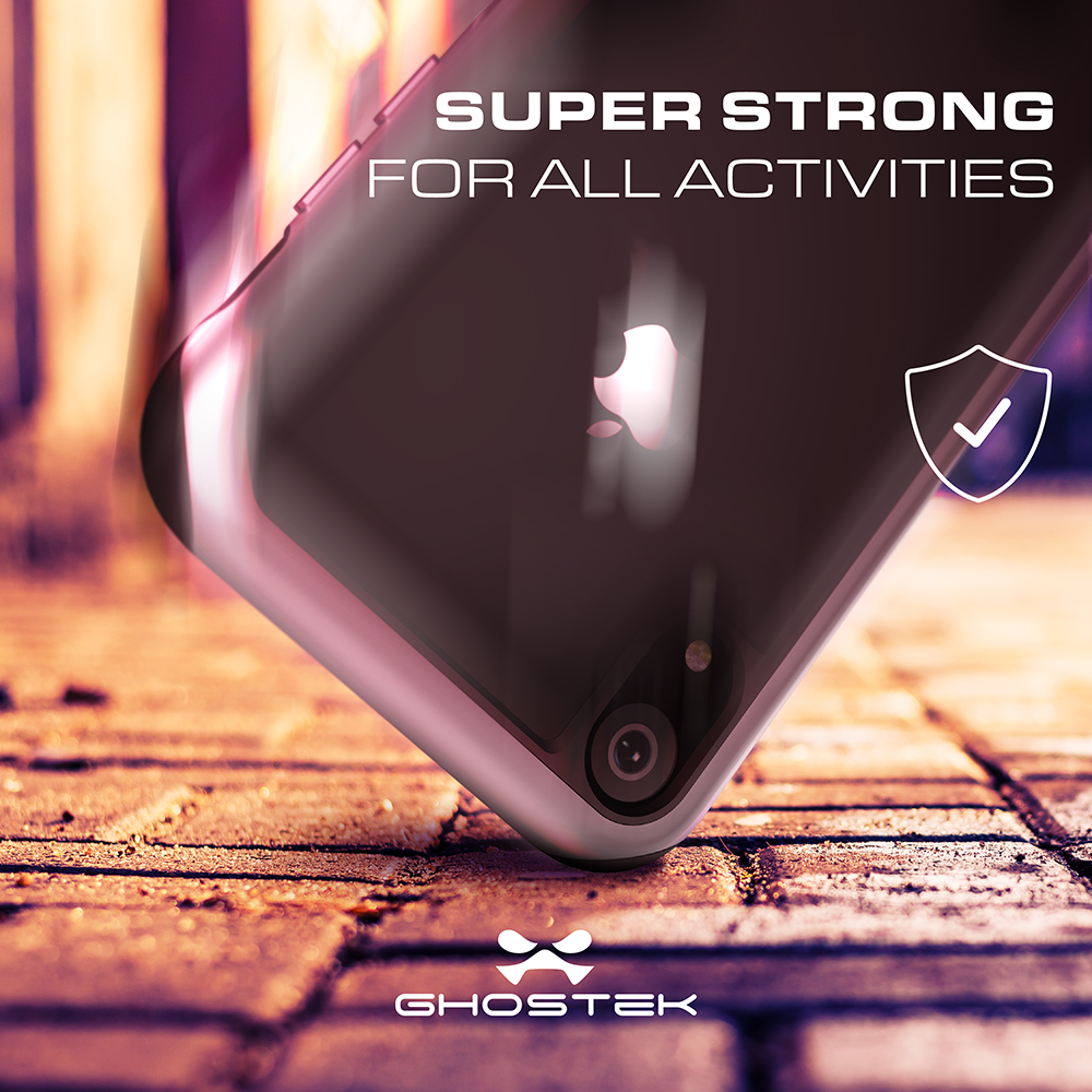 For Apple iPhone XR Case | Ghostek ATOMIC SLIM Clear Shockproof Bumper Cover
