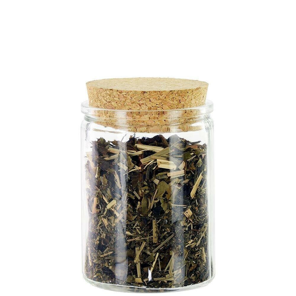 12 oz Clear Glass Jars with Cork Lids