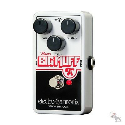 Electro Harmonix Nano Big Muff Pi Distortion Fuzz Overdrive Guitar Effects Pedal