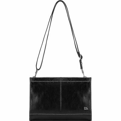 The SAK Women's Iris Demi Clutch Black Onyx Purse Convertible Crossbody - NWT Black Demi Handbag