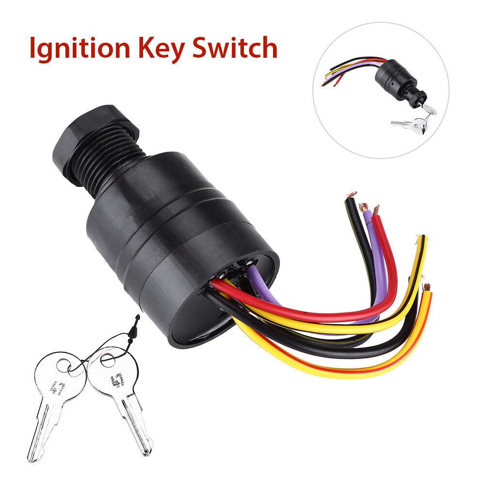 Ignition Key Switch Push To Choke Oem 87