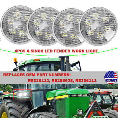 4pcs 4.5 Led Front Fender Work Light For John Deere Utility Tractors 2040 2840