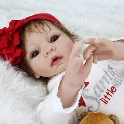 "22"" Handmade Reborn Baby Dolls Gift Soft Vinyl Silicone Lifelike Girl Doll Toys"