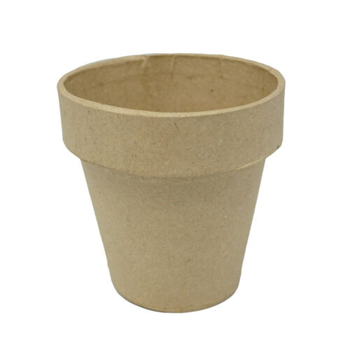 Mini Paper Mache Clay Pot, Natural, 4-Inch