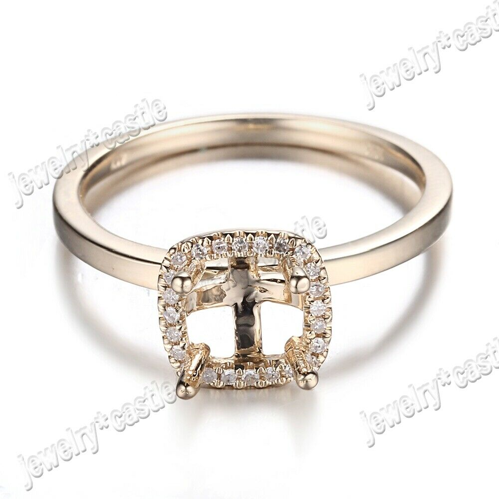 14k Sterling Silver 0.1ct Round Cut Diamond Engagement Ring Size 9.5 Xmax Gift