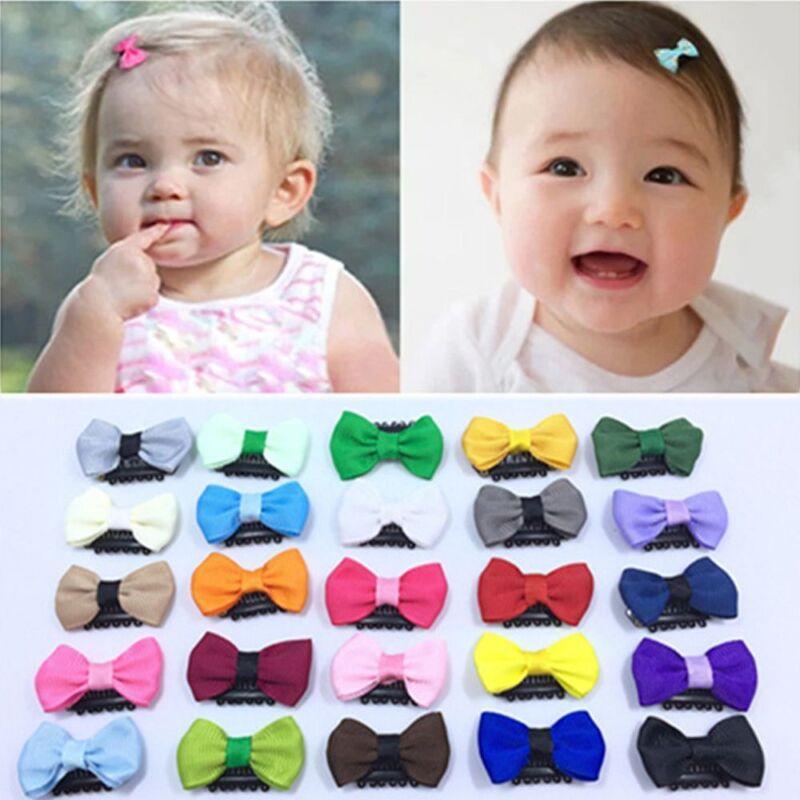 03179c0665dc Newborn Baby Cute Flower Headwear Infant Mini Bow Hair Clips Hair ...