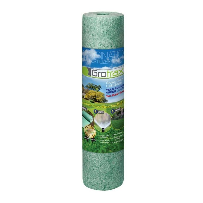 Grotrax 803 Year Round Green Mixture Grass Roll, 100 Square Feet