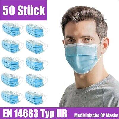 Mundschutz Medizinisch Maske 3lagig Einweg OP Mund Nasen Atem Maske DIN EN 14683