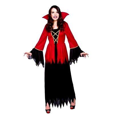 Ladies DELUXE VAMPIRESS Halloween Scary Party Fancy Dress Costume UK Sizes 6-28](Size 28 Ladies Halloween Costumes)