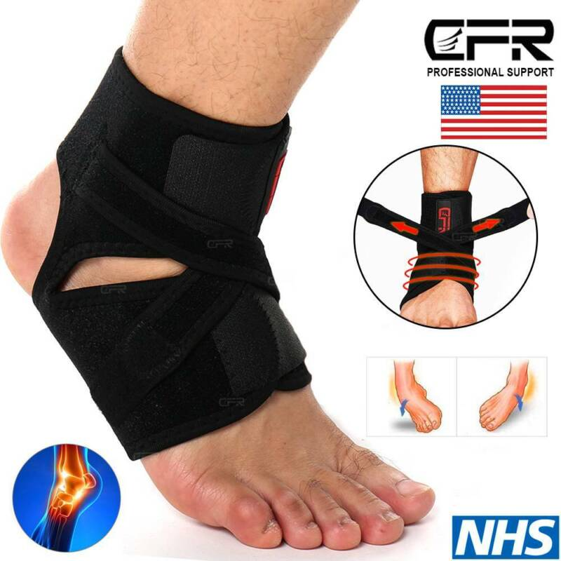 Adjustable Elastic Ankle Brace Foot Arch Support Sports Spra