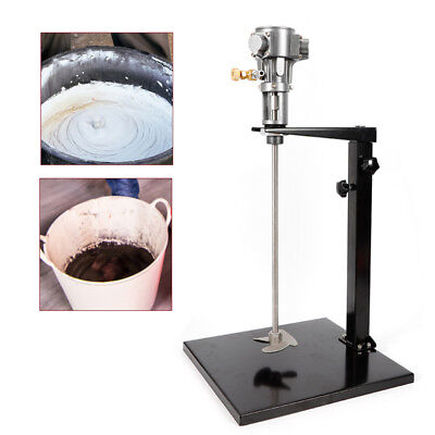 20L Pneumatic Mixer w/Stand Stainless Steel 1/4HP Paint Coating Mixing Tool