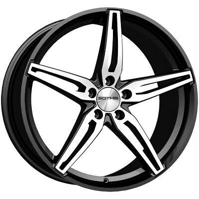 "4-Sothis SC108 20x9 5x4.5"" +38mm Black/Machined Wheels Rims 20"" Inch"
