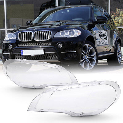 [Extra Clear+Heavy Duty] 07-12 BMW E70 X5 Replacement Headlight Lamp Cover Lens ()