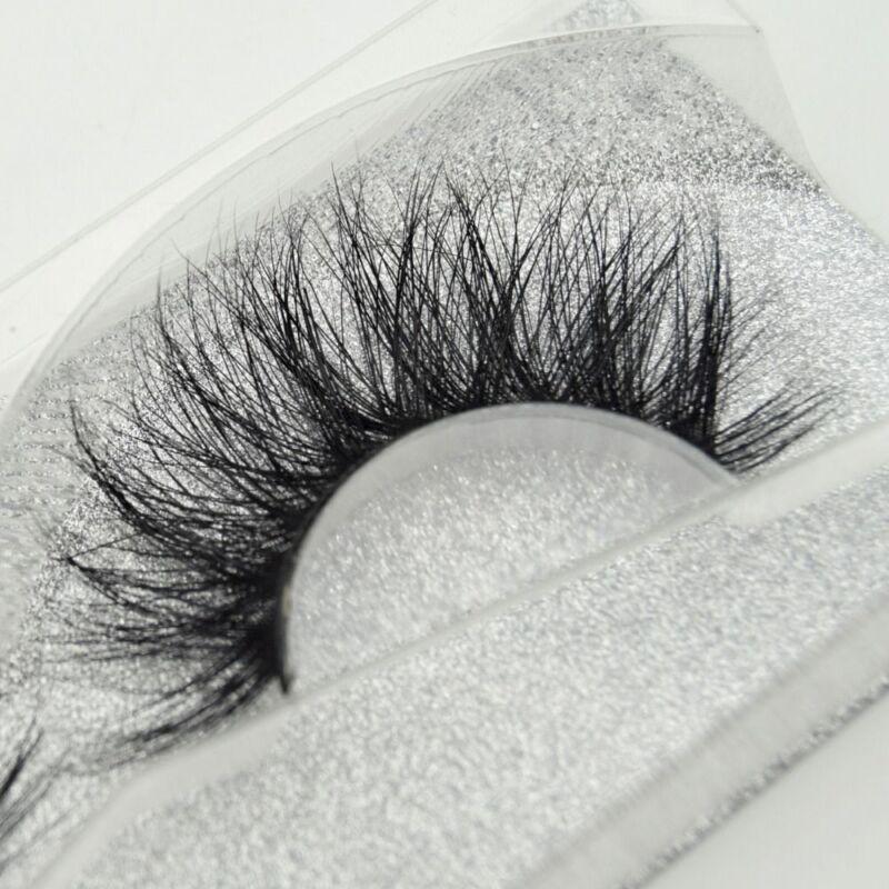 SKONHED 3D Mink Hair False Eyelashes Wispy Cross Lashes Fluf