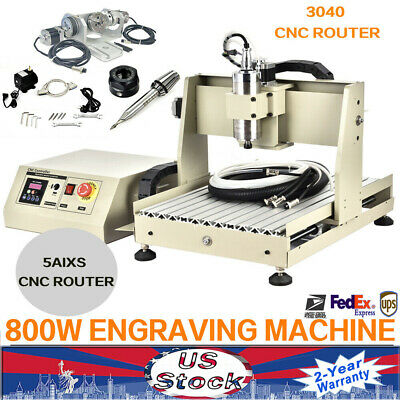 800w 5axis 3040 Usb Cnc Router Engraver Engraving Milling Carving Machine New Us