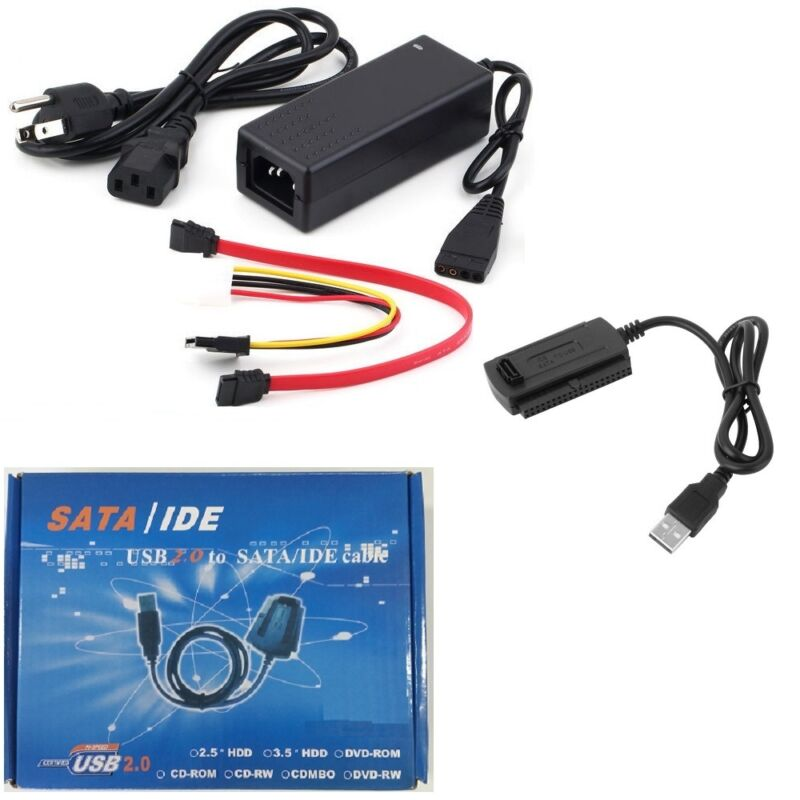 USB 2.0 to IDE SATA S-ATA PATA 2.5 3.5 Hard Drive HD HDD Converter Adapter Cable