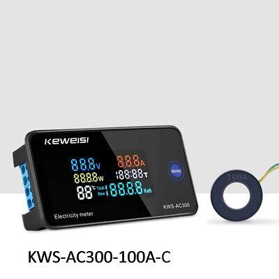 Kws-ac300 Digital Lcd Voltmeter 100 Amp Ammeter Current Power Energy Meter