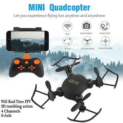 MINI WIFI FPV 2.4Ghz 4CH 6-Axis RC Quadcopter Drone Camera HD Black...